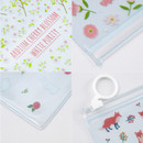 Detail of Pattern bling clear zip lock small pouch