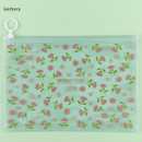 Gerbera - Pattern bling clear zip lock medium pouch