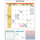 Monthly plan - Du dum 100 days illustration desk planner
