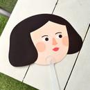 Girl - Du dum mask handy fan
