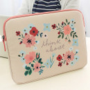 Peach - Rim pattern 15 inches laptop pouch case