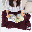 Burgundy - Afternoon hello rayon blanket
