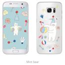 Mint bear - Rim TPU soft galaxy S7 smartphone case