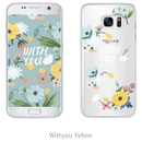Withyou yellow - Rim TPU soft galaxy S7 smartphone case
