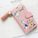 Pink - Rim diary flip case for iPhone 6