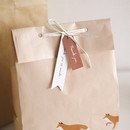 Animal pattern gift paper bag set