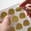 embossed seal sticker set
