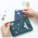 Flower rabbit - Jam Jam handy zipper pouch