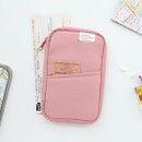 Indi pink - A low hill zip around pocket multi pouch