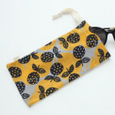 Lotus - Warm breeze pattern drawstring pouch