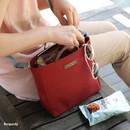 Burgundy - Holiday picks cross shoulder bag