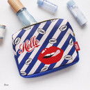 Blue - Afternoon Hello square zipper pouch