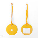 Yellow - 2NUL Travel shape luggage name tag
