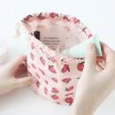 Camellia flower - Jam Jam pattern drawstring pouch