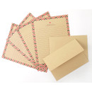 Especially for you kraft letter paper and envelope set