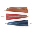 Colors of Triangle synthetic leather zipper pencil case