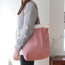 Around'D corduroy line shoulder bag tote