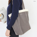 Cocoa - Around'D corduroy line shoulder bag tote