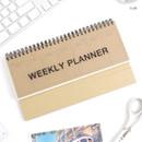 Craft - Wirebound Kraft undated weekly desk planner
