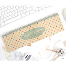 Dot - Wirebound kraft undated weekly desk planner