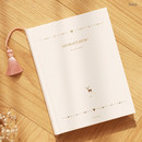 Ivory - 2017 Les beaux jours undated diary with Tassel
