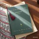 Dark green - 2017 Les beaux jours undated diary with Tassel