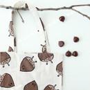 Chestnut - Livework Jam Jam pattern daily shoulder tote bag