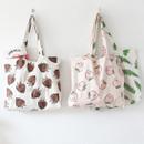 Jam Jam pattern cotton shopper tote bag