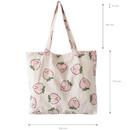 Size of Jam Jam pattern cotton shopper tote bag