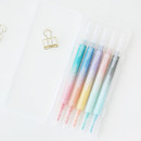 10 Colors double ended highlighter chisel/fine point set