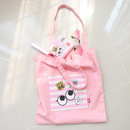 Baby pink - Afternoon Hello cotton shoulder tote bag