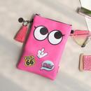 Pink - Hello cute illustration slim crossbody bag