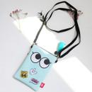 Mint - Hello cute illustration slim crossbody bag