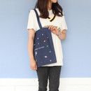 Space - In space cotton shoulder tote bag