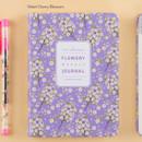 Violet cherry blossom - Premium flower pattern weekly undated journal