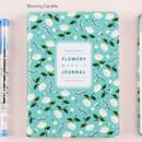 Blooming camellia - Premium flower pattern weekly undated journal