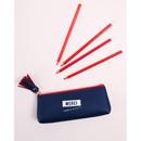 Navy - Merci tassel zipper pencil case
