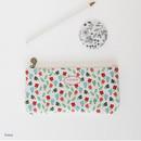 Ivory - Licoco flower pattern zipper pencil case
