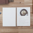 Grid note - Slow and simple wirebound monthly undated planner