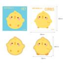 Size of Bookcodi Molang piupiu cute sticky memo note