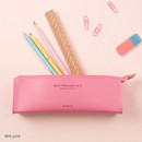 Milk pink - Monopoly Daily triangle zipper pencil case ver.2