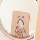 I'm shy - Rim zipper flat card case holder