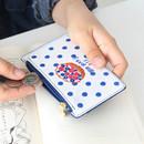 Blueberry - Rim zipper flat card case holder