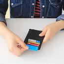 Card slots - Rim zipper flat card case holder
