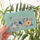 Mint - Rim zipper flat card case holder