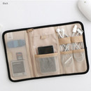 Black - Brunch brother roll up organizer pouch