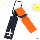 Orange - Fenice Simple airplan travel luggage name tag