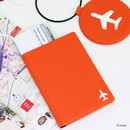 Orange - Fenice Simple RFID blocking small passport cover
