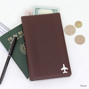 Brown - Fenice Simple RFID blocking medium passport cover