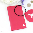 Pink - Fenice Simple RFID blocking medium passport cover